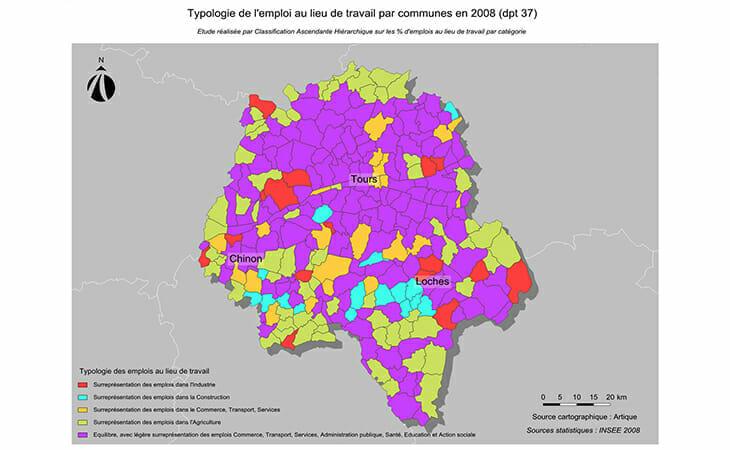 Typologie de l'emploi dans le département de l'Indre-et-Loire