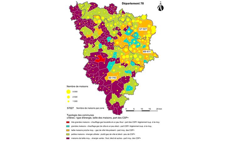 Cartographie des communes des Yvelines par typologie