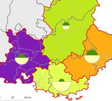 Cartographie de la force de vente en PACA