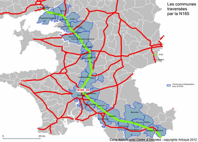 Cartographie d'un réseau routier avec le module Intersection