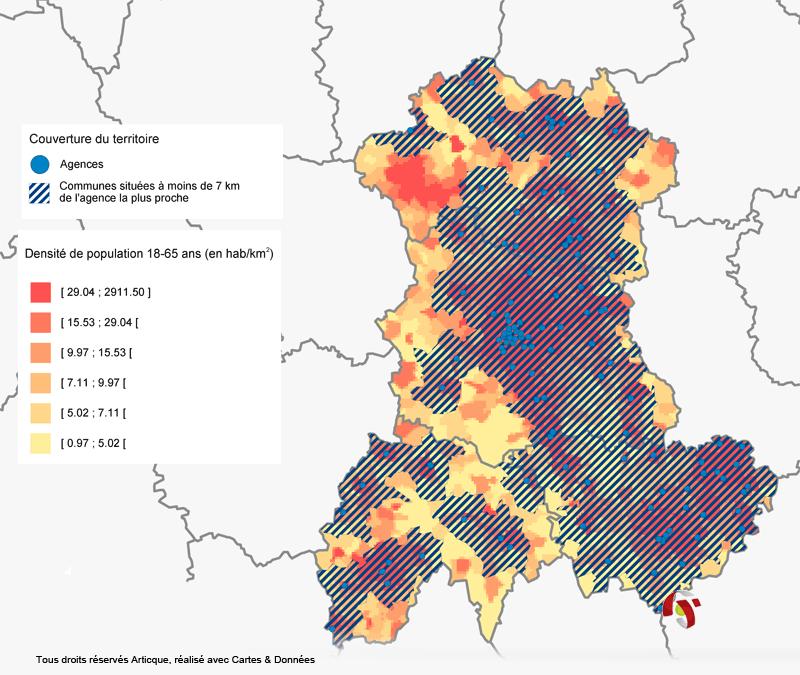 Exemple de couverture du territoire avec Cartes & Données