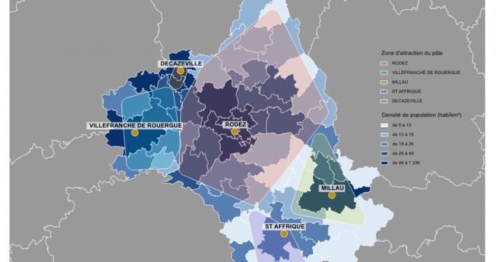 Information médicale : principaux pôles d'attraction MCO de l'Aveyron