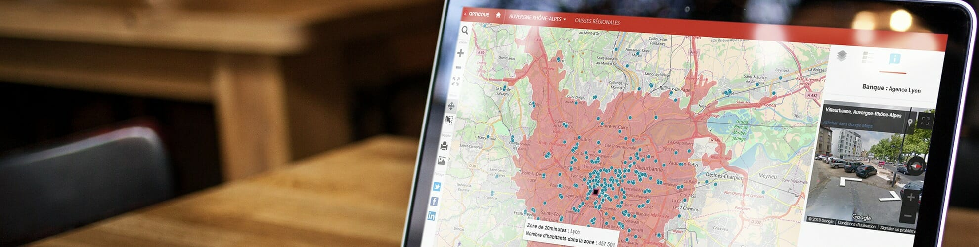 atlas de géomarketing sur les banques