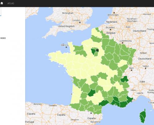 Analyse géographique des inegalites : indice de Gini