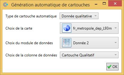 Génération automatique du cartouche dans Cartes & Données