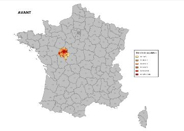 Carte d'Indre-et-Loire dans Cartes & Données