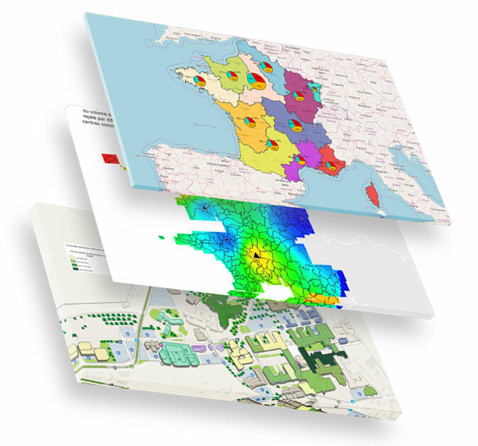 Représentation de cartographiques multiples