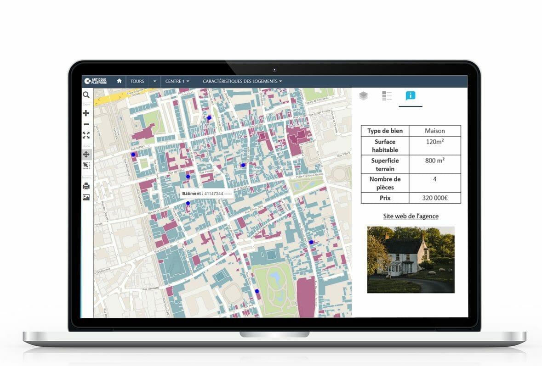 Cartographie d'un patrimoine immobilier par quartier