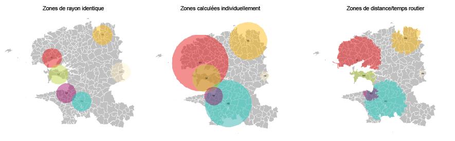 Images du module zone d'accès dans Cartes & Données