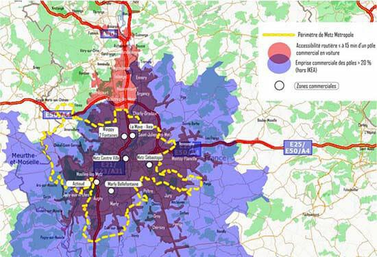 creer une zone de chalandise : l'exemple de la metropole de metz