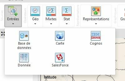 Cartographie numerique : entrees du logiciel