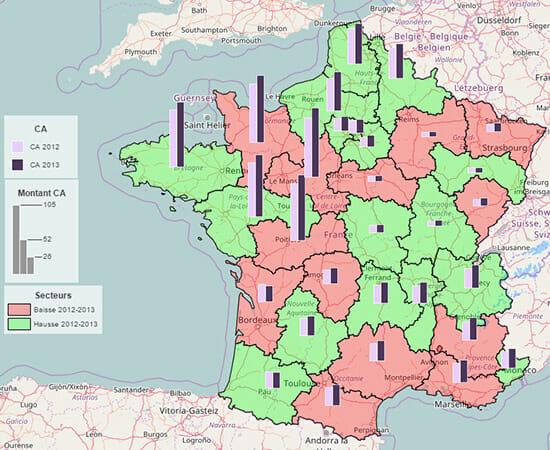 graphiques articque map pour qlik