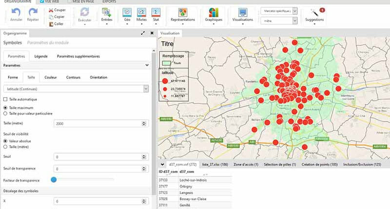 Personnalisation de symboles cartographiques dans le logiciel cartes et donnees