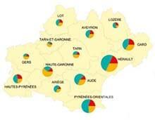 Exemple de cartographie du CRT Occitanie