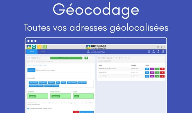 Solution Articque : le geocodage