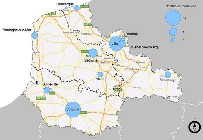 Exemple de cartographie de sessions de formation