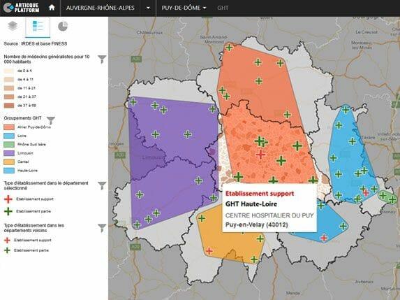 atlas interactif sur l'accès au soins