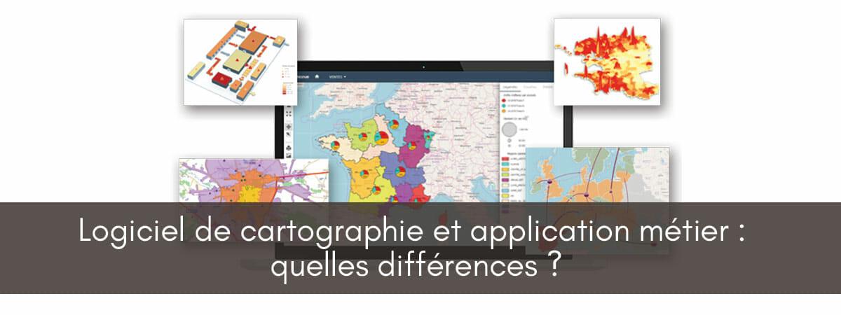 application métier ou logiciel de cartographie