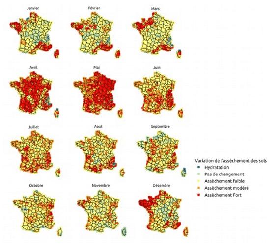 Evolution de la sécheresse due au changement climatique