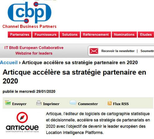 Channel Business Partners Articque strategie partenaire 2020