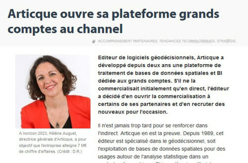 Articque ouvre sa plateforme grands comptes au channel Distributique