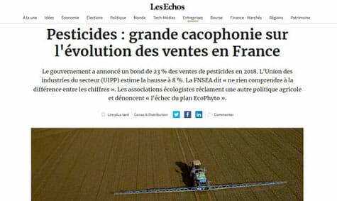 pesticides grande cacophonie sur evolution des ventes en france