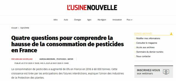 quatre questions pour comprendre la hausse de la consommation pesticides