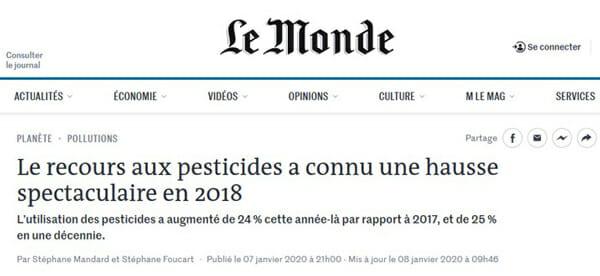 le monde pesticides hausse 2018