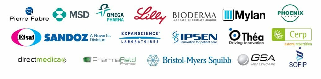 logos clients secteur pharmaceutique