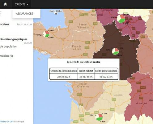 Géomarketing : Répartition des données de crédits par région