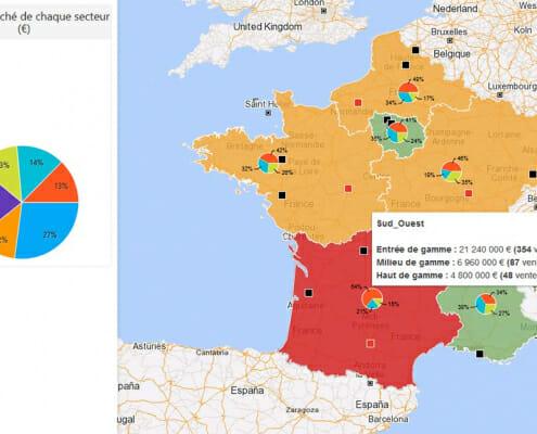Géomarketing : Implantation des marques dans le secteur de l'automobile