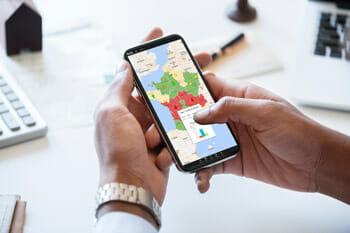 Visualisation d'un atlas sur un smartphone