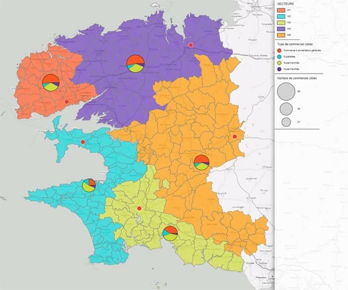 Geomarketing : sectorisation automatique par méthode heuristique