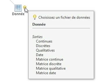 Choix d'un fichier de donnees dans l'organigramme articque
