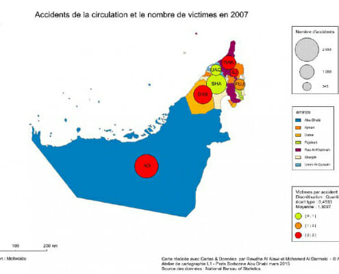 Carte des accidents de la circulation en 2007