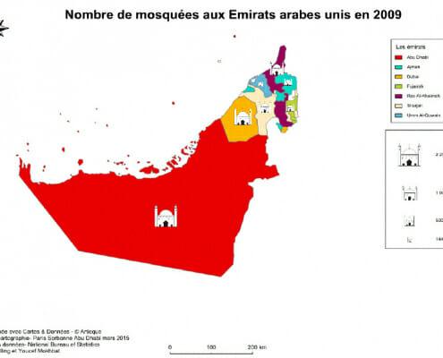 Nombre de mosquees aux emirats arabes unis en 2009