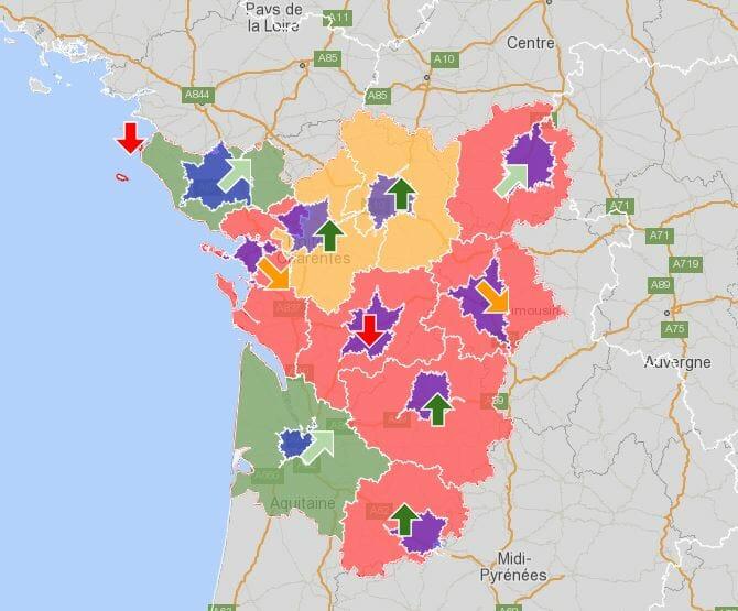 Cartographie des la performance des assurances en aquitaine