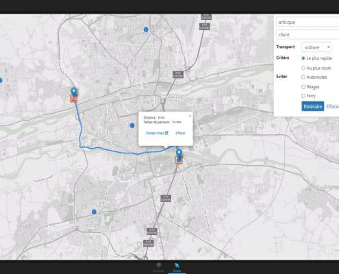 Visualisation d'une carte dans le logiciel articque