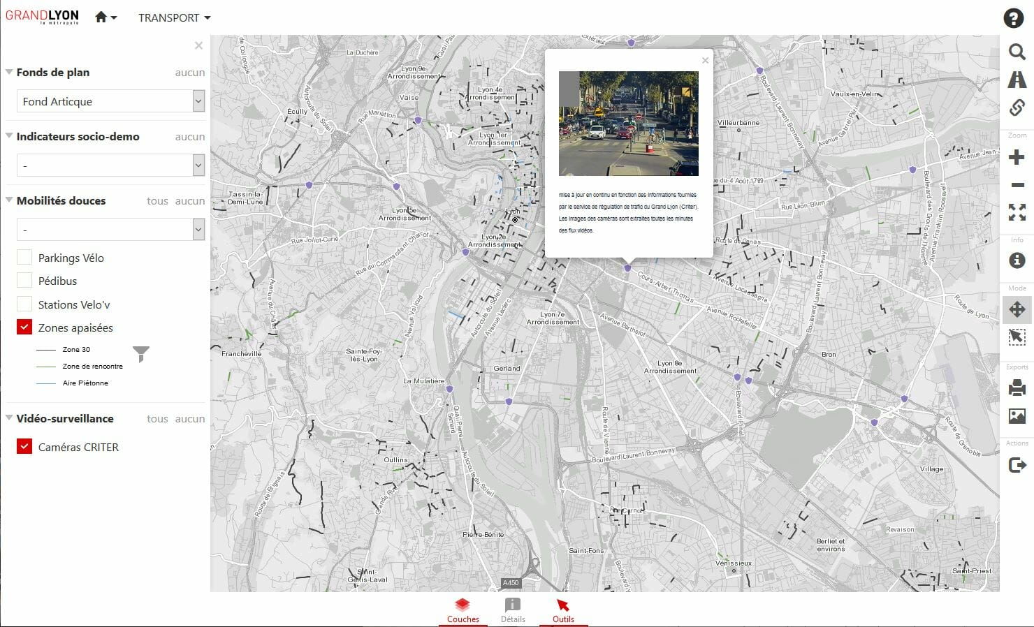 zones apaisees du Grand Lyon