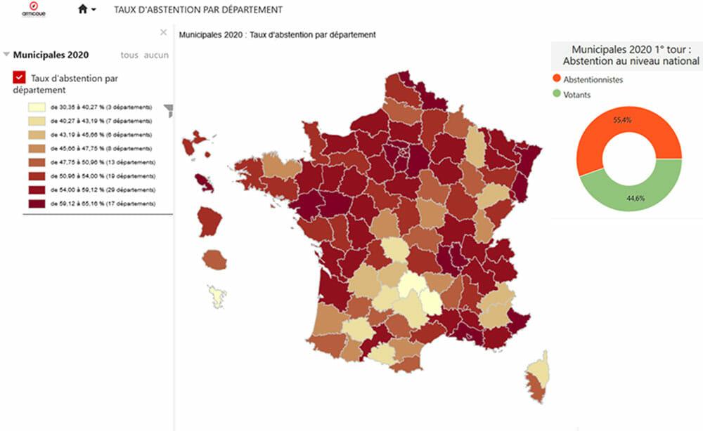 Carte du programme GeoNews : les elections 2020
