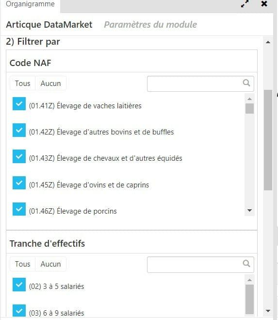 filtre articque datamarket