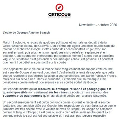 newsletter octobre 2020 articque