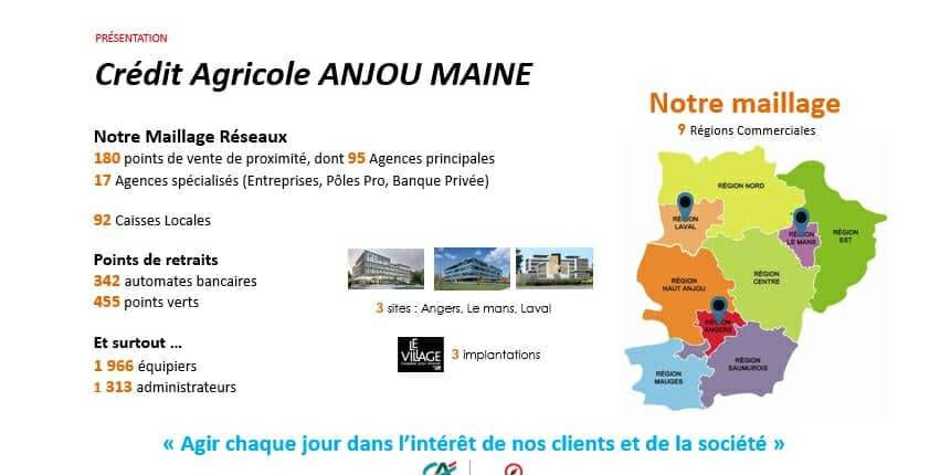 Maillage du Crédit Agricole Anjou Maine