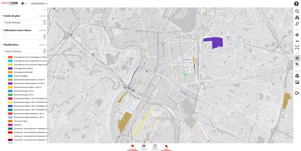 communication sur les travaux prévus par la Métropole de Lyon