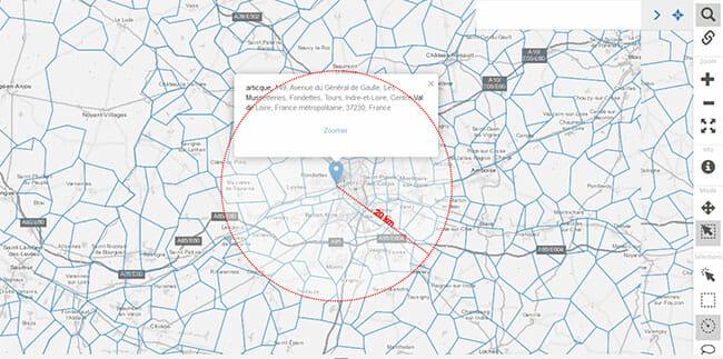 Carte des 20 km pour le 2eme deconfinement