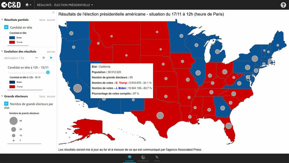 Carte de l'election americaine 2020 : les resultats