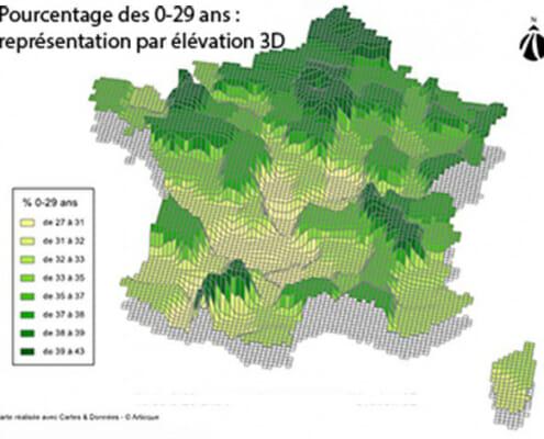 Creer une carte en elevation 3D