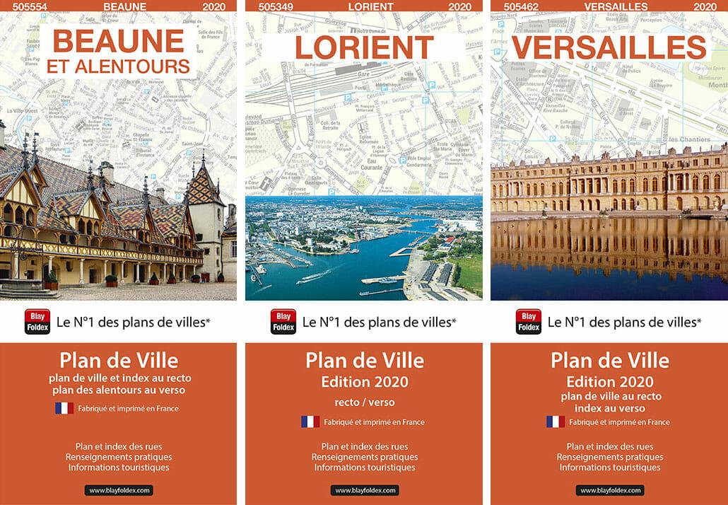 Plans de ville blay foldex : beaune, lorient, versailles
