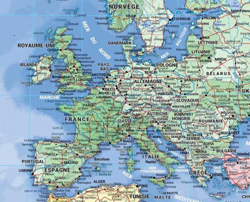 Planisphere blay foldex de l'europe