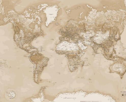 Planisphere blay foldex du monde vintage
